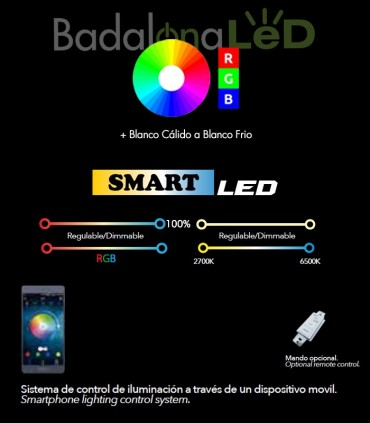 Bombilla LED dicroica RGB Smart Multitono