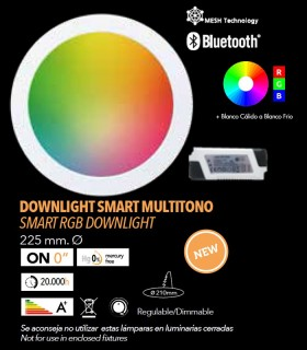 Downlight LED 18w SMART MULTITONO RGB