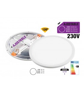 Downlight LED Redondo - AJUSTABLE - Ilumshop